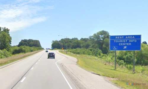 in interstate 64 indiana i64 nancy hanks rest area mile marker 58 eastbound off ramp exit