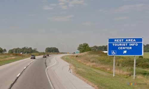 in interstate 64 indiana i64 nancy hanks rest area mile marker 58 westbound off ramp exit