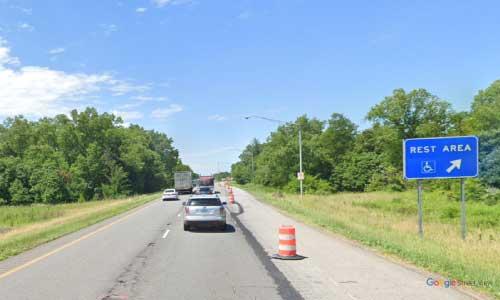 in interstate 65 indiana i65 kankakee rest area mile marker 231 northbound off ramp exit