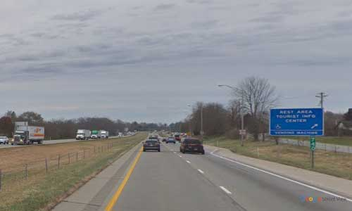 in interstate 65 indiana i65 taylorville rest area mile marker 74 southbound off ramp exit