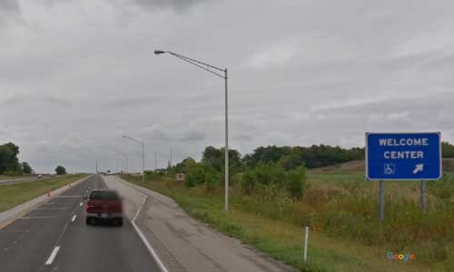 in interstate 70 indiana i70 centerville welcome center mile marker 143 westbound off ramp exit