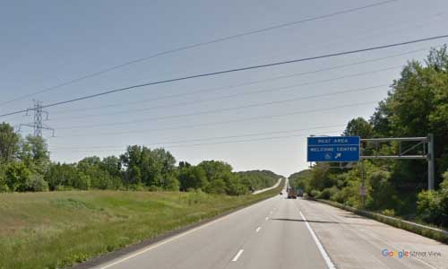 in interstate 70 indiana i70 clear creek welcome center mile marker 2 eastbound off ramp exit