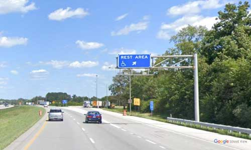 in interstate 70 indiana i70 plainfield rest area mile marker 64 eastbound off ramp exit