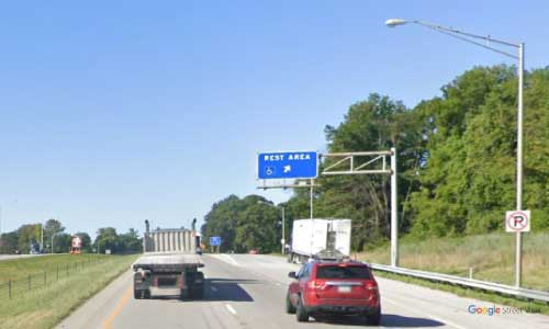 in interstate 70 indiana i70 plainfield rest area mile marker 64 westbound off ramp exit