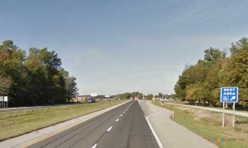 in interstate 74 indiana i74 batesville welcome center mile marker 151 westbound off ramp exit
