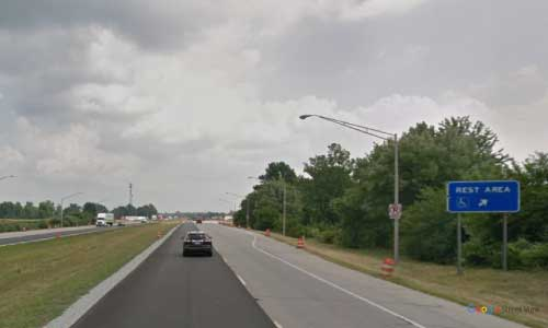 in interstate 74 indiana i74 lizton rest area mile marker 57 eastbound off ramp exit