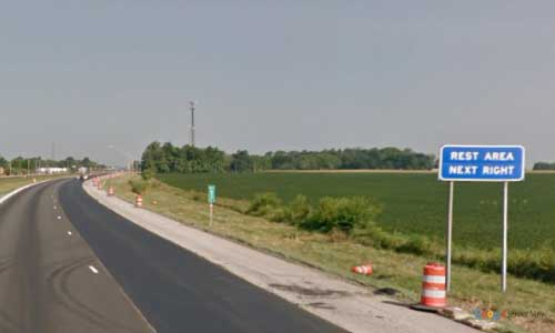 in interstate 74 indiana i74 lizton rest area mile marker 57 westbound off ramp exit