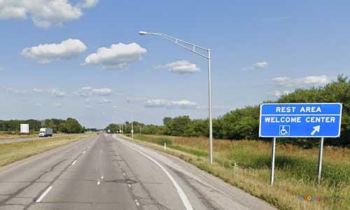 in interstate 74 indiana i74 spring creek welcome center mile marker 1 eastbound off ramp exit