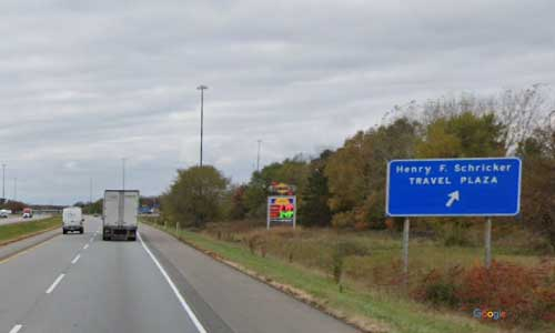 in interstate 80 90 indiana i80 i90 indiana toll road elkhart service plaza mile marker 90 westbound off ramp exit