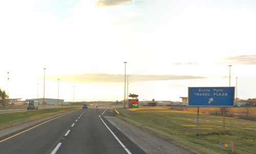 in interstate 80 90 indiana i80 i90 indiana toll road howe service plaza mile marker 126 westbound off ramp exit